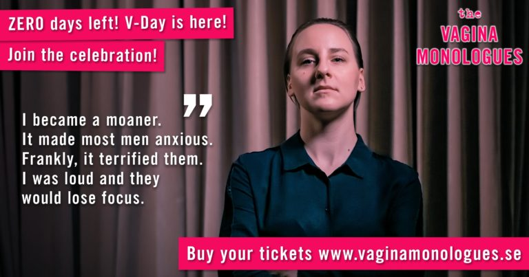 Domka is performing to support victims of sexual violence! Don't miss it, buy tickets at www.vaginamonologues.se!