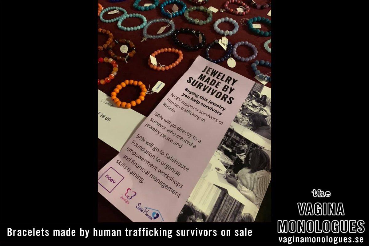 Bracelets made by human trafficking survivors on sale