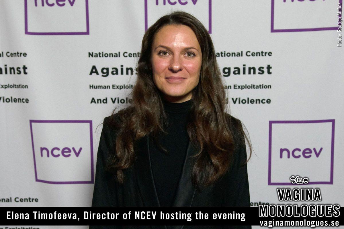 Elena Timofeeva, Director of NCEV hosting the evening