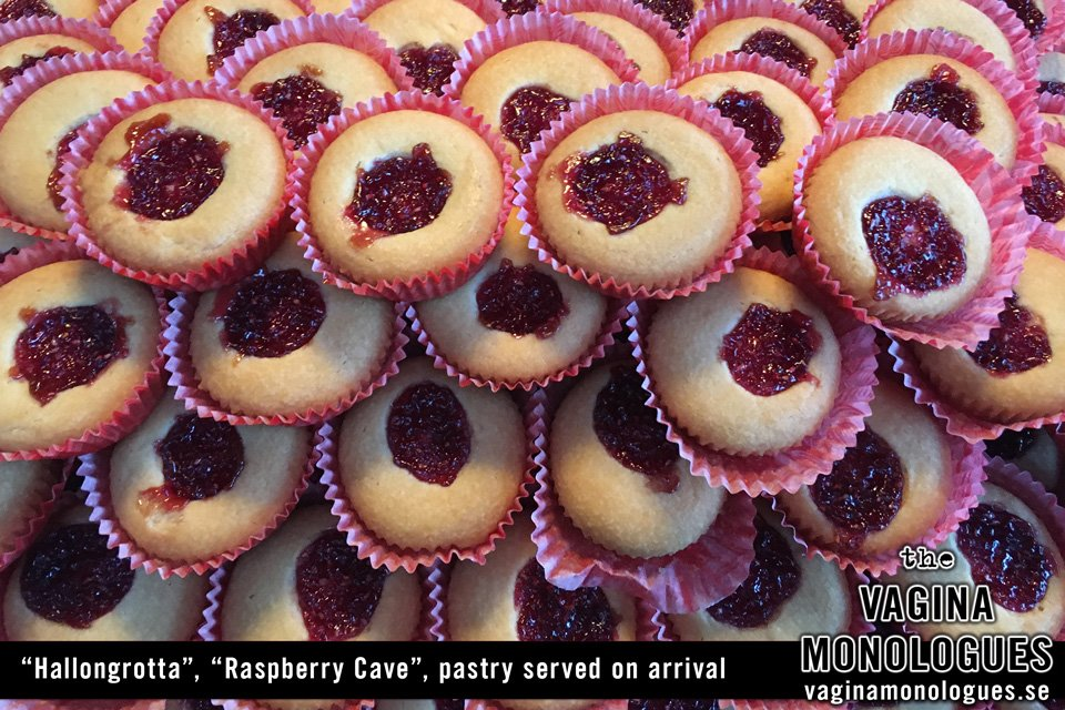 """""""Hallongrotta"""", """"Raspberry Cave"""", pastry served on arrival"""