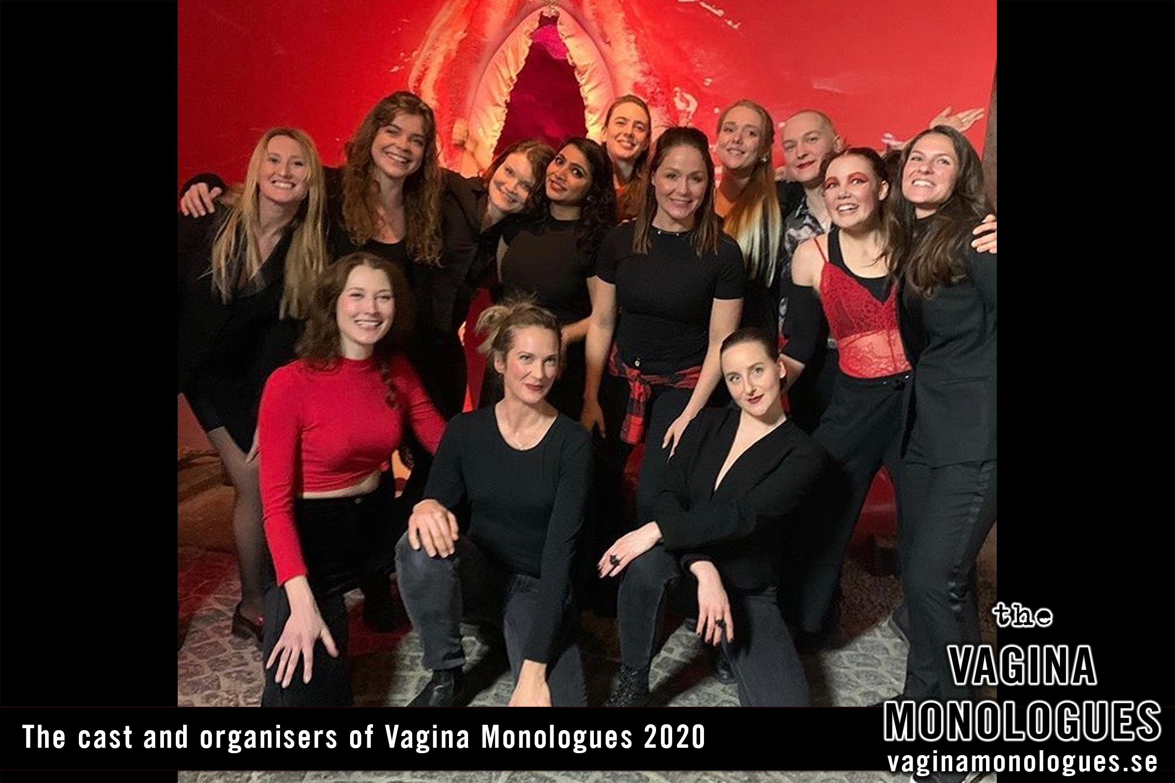 The cast and organisers of Vagina Monologues 2020