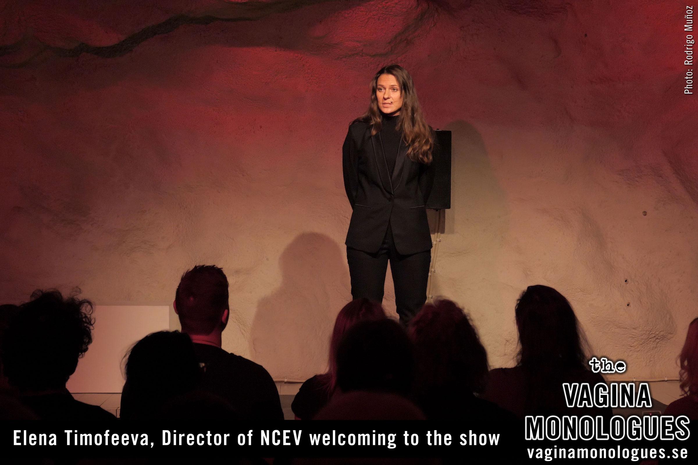 Elena Timofeeva welcoming to the show
