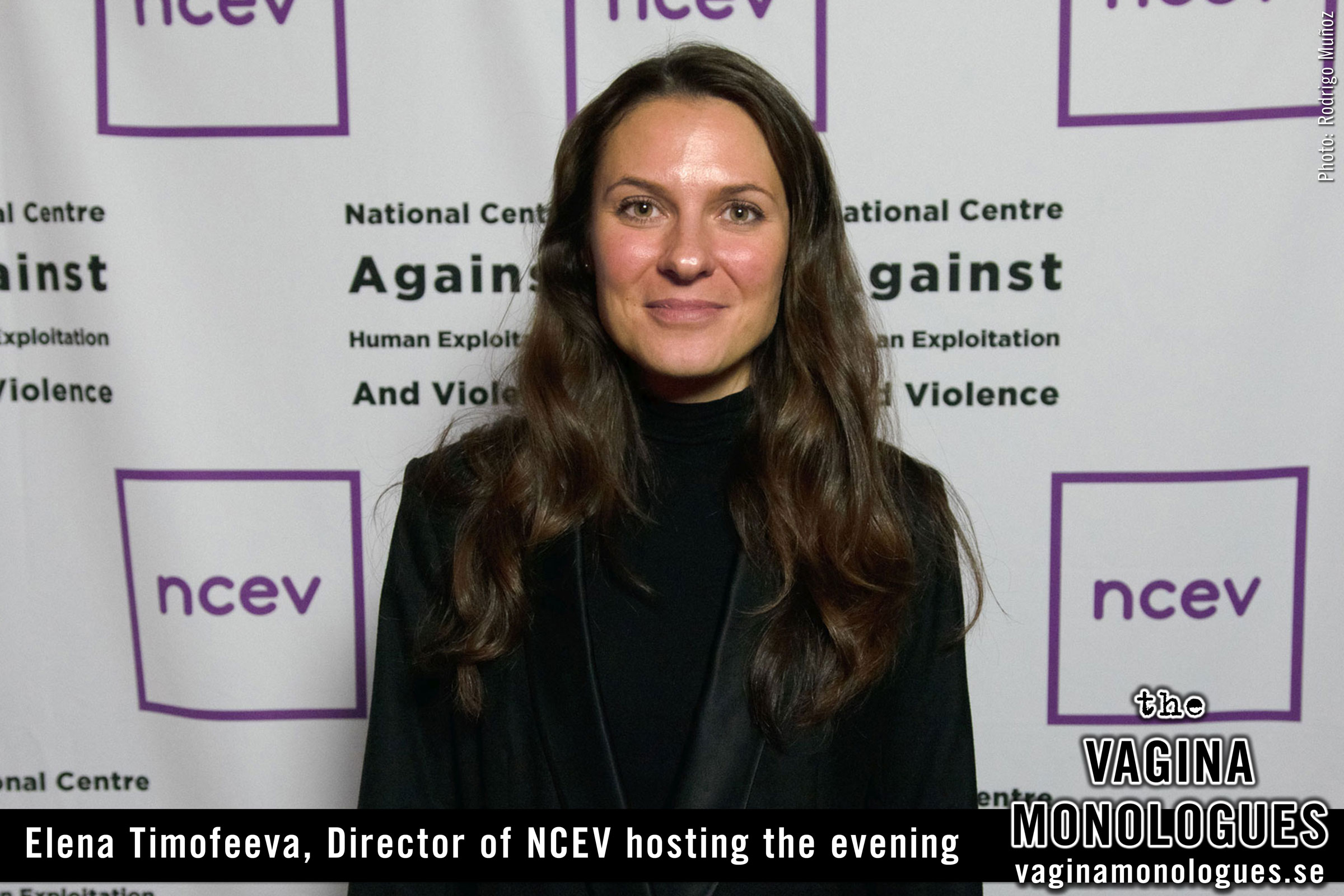 Elena Timofeeva, Director of NCEV hosting the evening