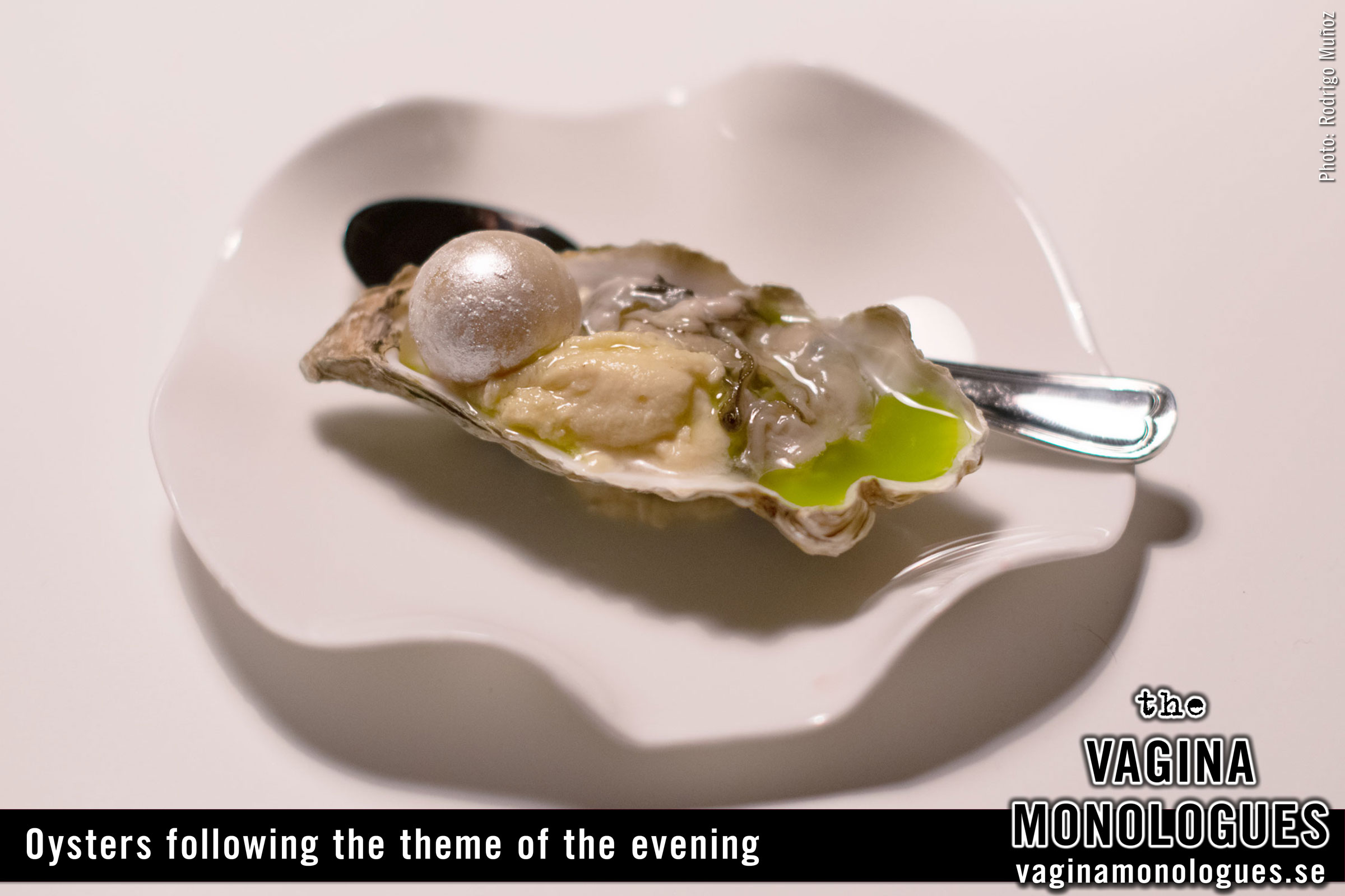 Oysters following the theme of the evening.