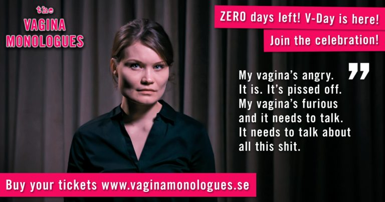 Anastasia is performing at The Vagina Monologues on 6th March 2020. Buy tickets at vaginamonologues.se!
