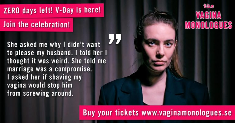 Josefin is performing at The Vagina Monologues on 6th March 2020. Buy tickets at vaginamonologues.se!