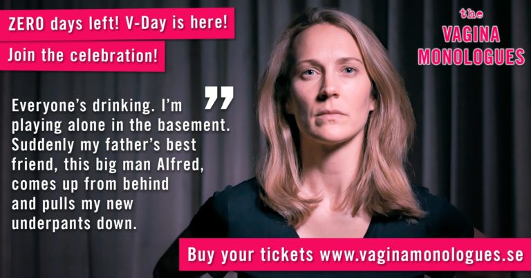 Lisa is performing at The Vagina Monologues on 6th March 2020. Buy tickets at vaginamonologues.se!