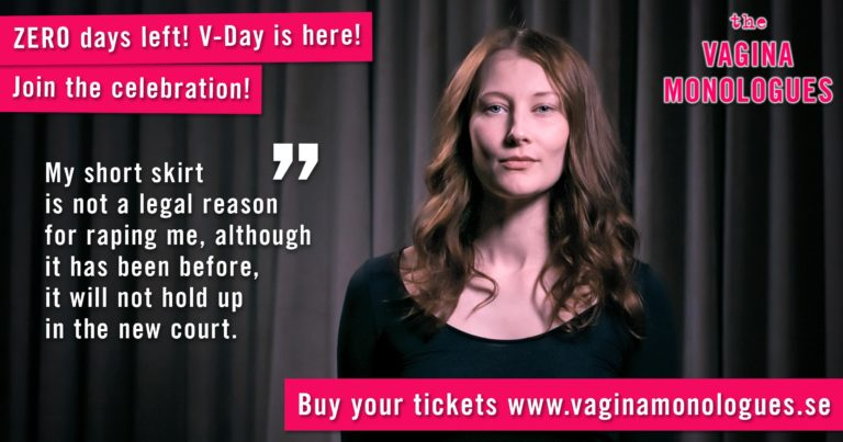 Sofie is performing at The Vagina Monologues on 6th March 2020. Buy tickets at vaginamonologues.se!